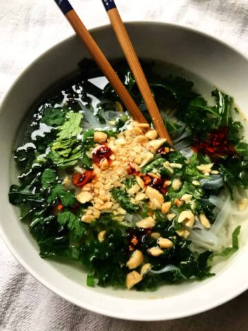 Spicy Everything-In-The-Kitchen Noodle Soup