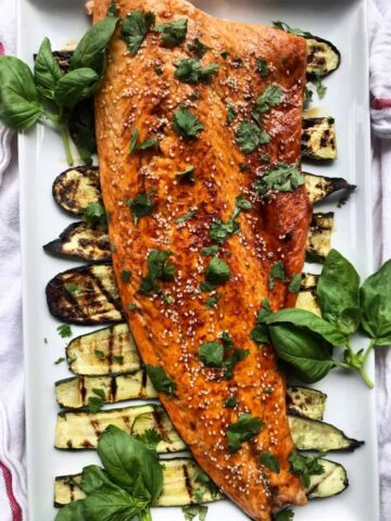 Sesame Soy Salmon with Grilled Zucchini