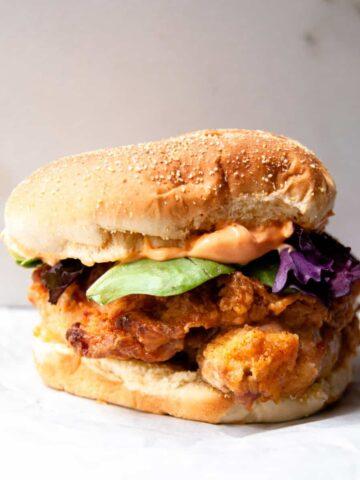 Air Fried Spicy Chicken Sandwiches