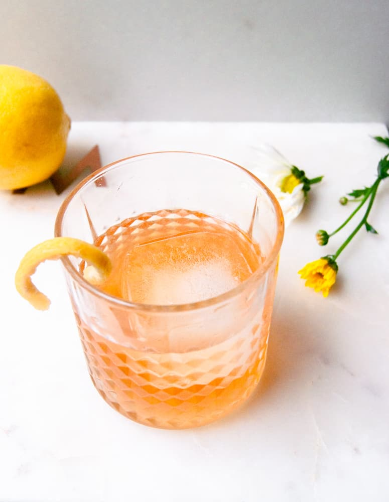 Grapefruit Infused Tequila Old Fashioned