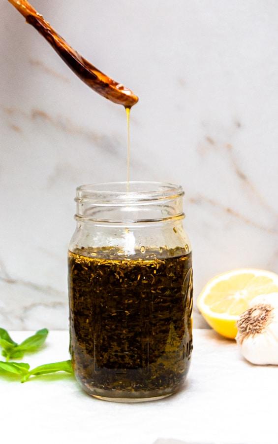 Lemon and Garlic Herbed Olive Oil