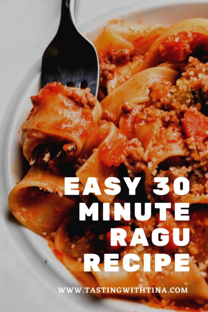 Quick Ragu Sauce
