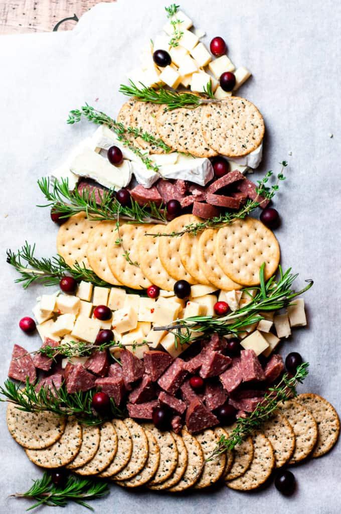 Christmas Tree Charcuterie Board Appetizer