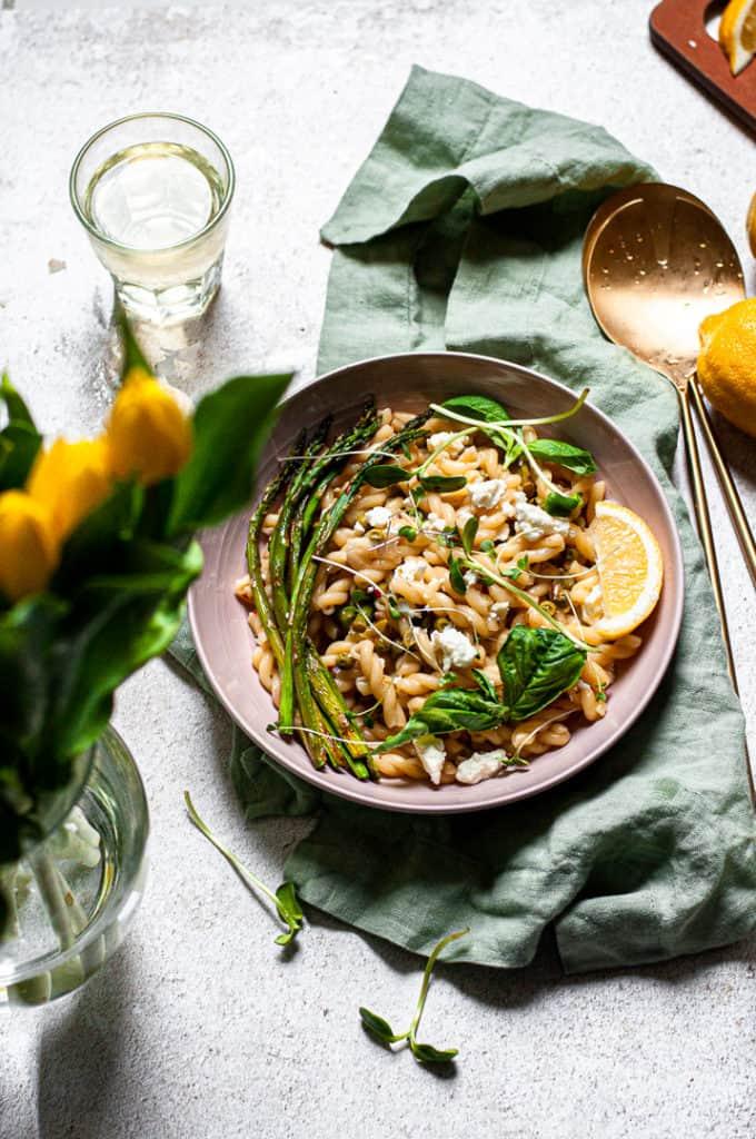 Fresh Spring Pasta Primavera with Feta